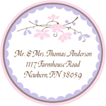 Name Doodles - Round Address Labels/Stickers (Chelsea Soft Pink)